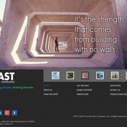 Kast Construction Website Home Page